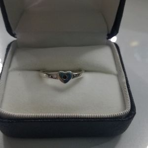 Tiffany&co Sterling silver heart with purple stone